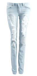 Lightwash Distressed Skinny Jeans