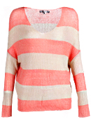 Wide Striped Knit Sweater