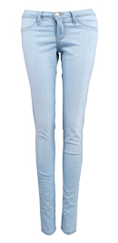 Light Wash Skinny Mini Jeans