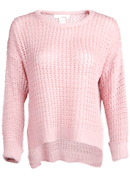 Open Knit Asymmetrical Sweater