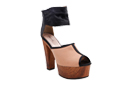 Wide Ankle Wrap Peeptoe Heels