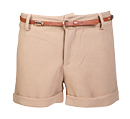 Cuffed Shorts with Belt