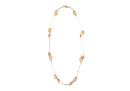 Long Strand Ivory Stone Necklace