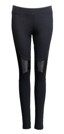 Futuristic Leather Panel Leggings