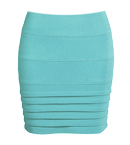 Horizontal Pleat Mini Skirt