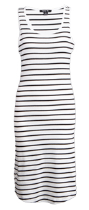 Striped Tank Knee Length Dress