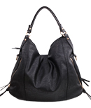 Black Zipper Hobo Bag