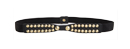 Studded Abstract Bow Belt
