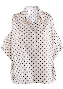 Polka Dot Cut Out Top