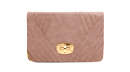 Pleated Animal Skin Clutch