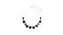 Opaque Black Stone Charm Necklace