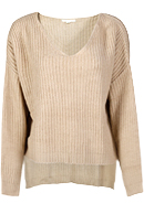 Chunky High Low Knit Sweater