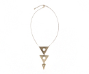 Tri Pyramid Necklace
