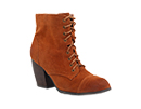 Lace Up Low Heel Bootie