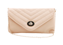 Beige Seamed Shoulder Bag