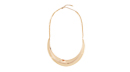 Gold Crescent Collar Necklace