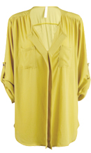Yellow Pleated Blouse