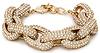 DAILYLOOK Sparkling Pave Link Bracelet