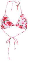 Ruffled Edge Floral Bikini Top