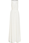 Plunging Chiffon Gown