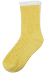 Scalloped Edge Crew Socks