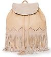 Studded Suede Tassel Backpack