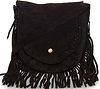 Suede Fringe Mini Purse