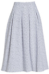 JOA Abstract Print Pleated Midi Skirt