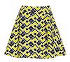 JOA Mosaic Print Skater Skirt