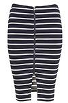 J.O.A. Striped Knit Pencil Skirt