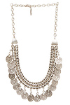 Chanour Antiqued Coin Fringe Necklace