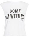 The Laundry Room Come Sit With Us Crop Muscle Tee