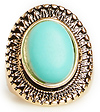 DAILYLOOK Turquoise Shield Ring