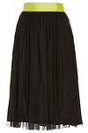 Lucy Paris Layered Tulle Midi Skirt