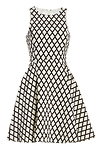 Lucy Paris Diamond Grid Fit and Flare Dress