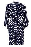 Stripe Kimono Sleeve Dress
