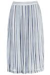J.O.A. Striped Pleated Midi Skirt