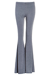 Stripe Knit Flared Pants