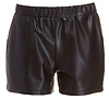 Lily White Elastic Vegan Leather Shorts