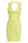 Front-V Crochet Dress