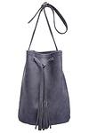 Jesslyn Blake Leather Bucket Bag
