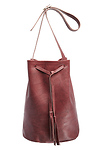 Jesslyn Blake Leather Bucket Bag