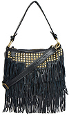 DAILYLOOK Studded Fringe Leather Purse