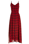 Line & Dot Empire Records Buffalo Plaid Maxi Dress