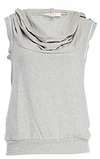 SOLOW Sleeveless Draped Hoodie