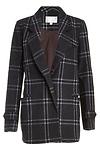 J.O.A. Classic Plaid Collar Coat