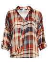 Olive & Oak Wrap Body Plaid Shirt