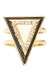 House of Harlow 1960 Teepee Triangle Ring