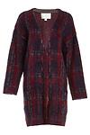 J.O.A. Plaid Sweater Coat