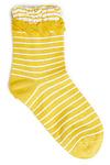 Striped Ruffle Socks